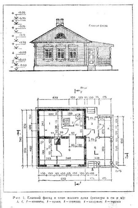 Дом трехкомнатный рис 1 2 рубленный